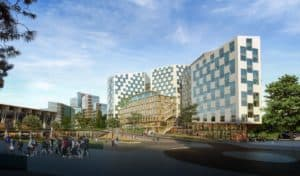 Valle Hovin in Helsfyr, Oslo, NCC develops 60 000 Sqm of office and retail.