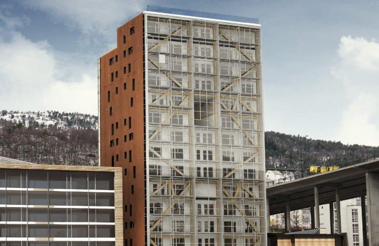 """Høyhuset """"Treet"""" i Bergen"""