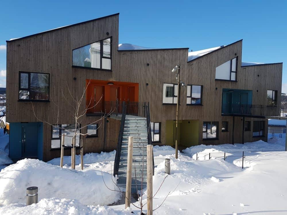 Ulsholtveien 31 på Furuset vant prisen for Årets Trebyggeri 2017