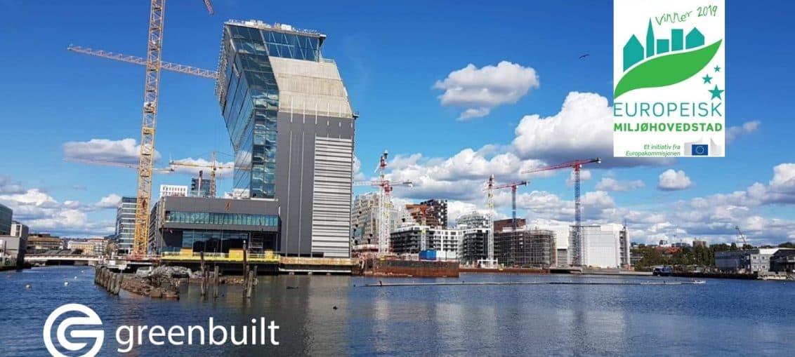 Bjørvika i Oslo med Munchmuseet som bygges