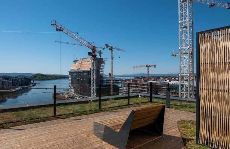Eufemias Hage boligprosjekt. Takhage i Barcode Oslo