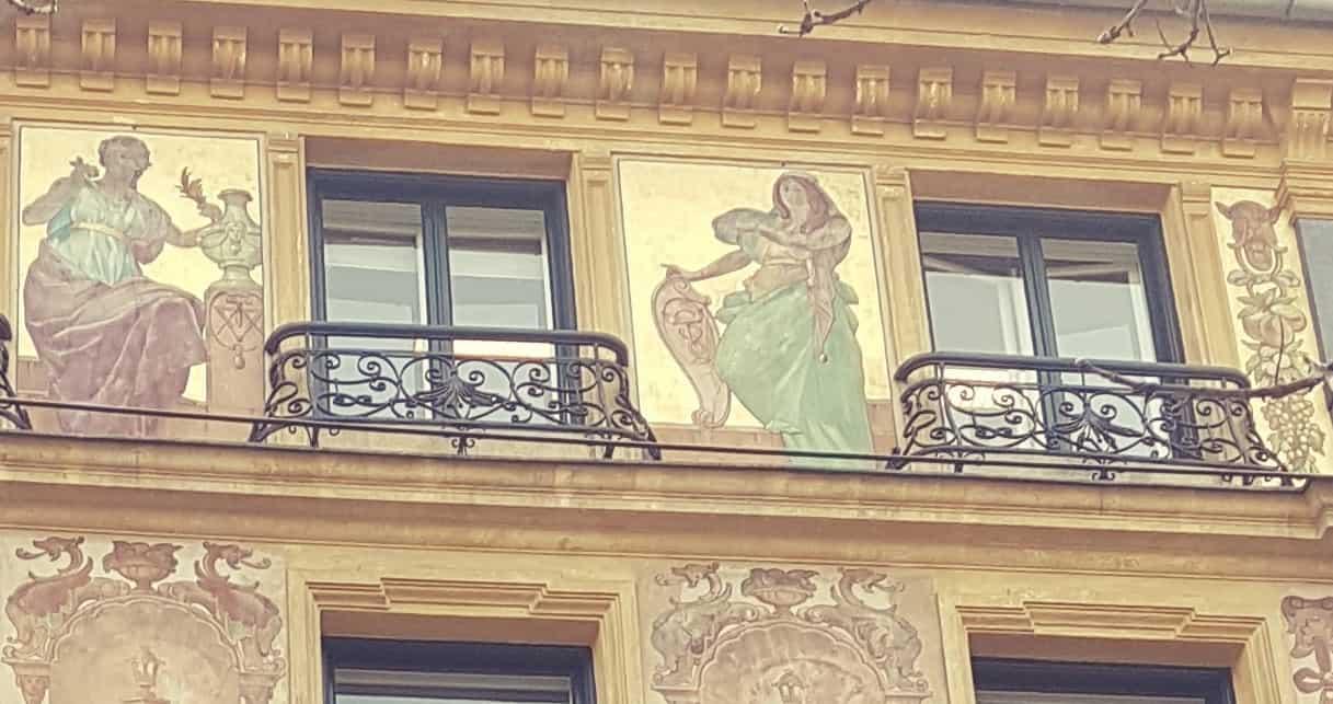 Akersgata, Oslo. Painted by Keim worldpatented Silicatepaint in 1895